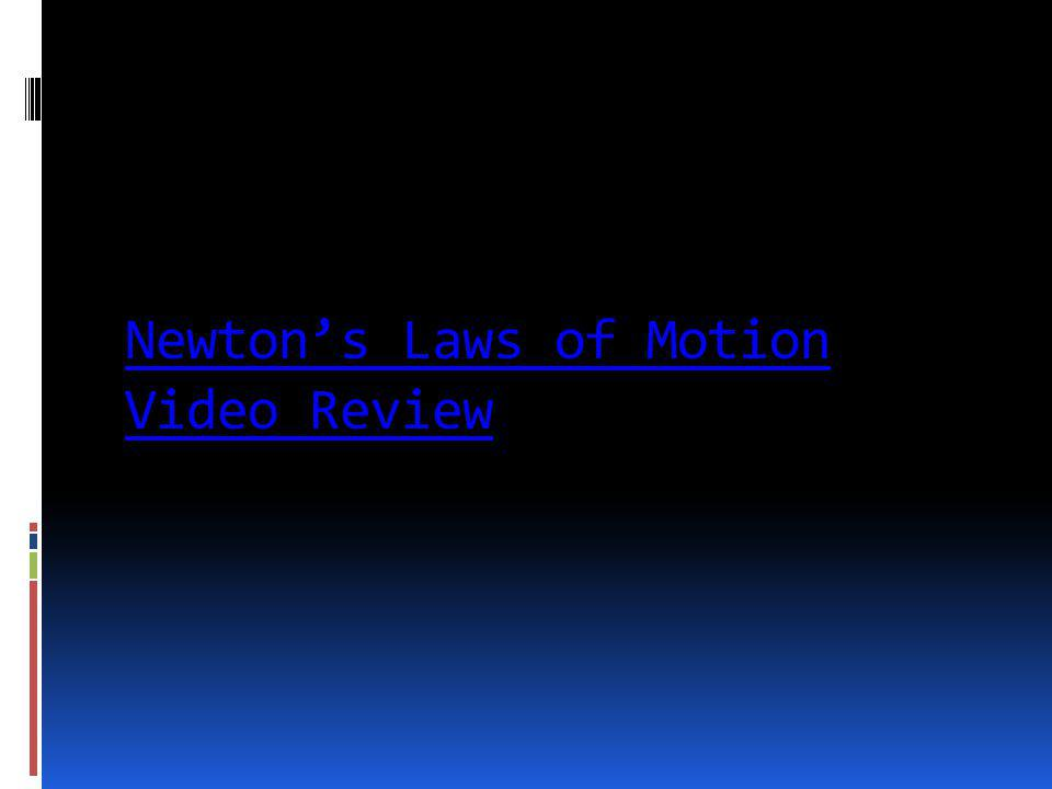 Newton's Laws of Motion Video Review