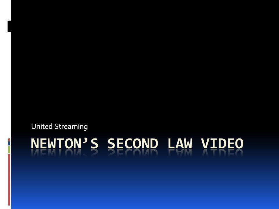 Newton's Second Law Video