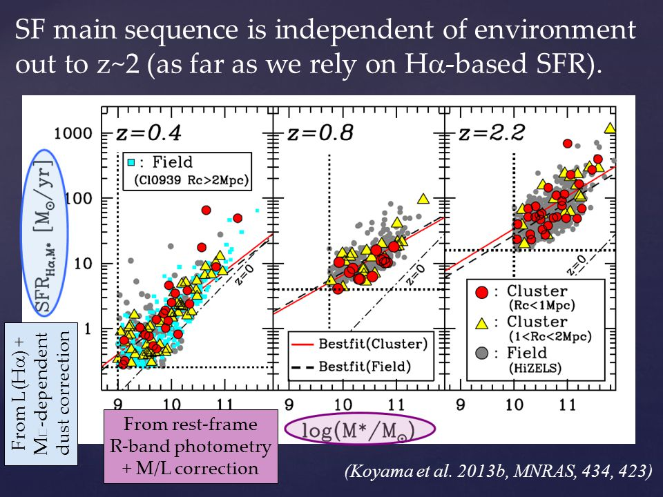From L(Ha) + M★-dependent dust correction