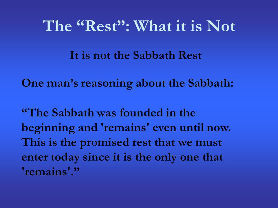 The Rest : What it is Not