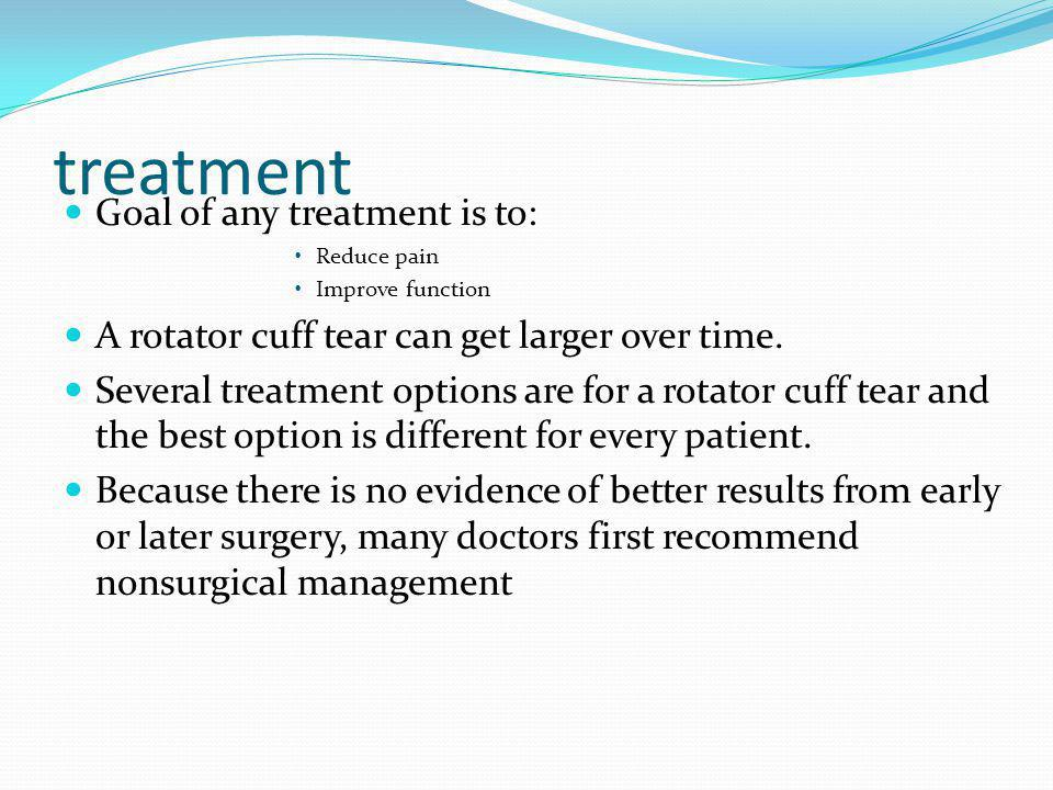 treatment Goal of any treatment is to: