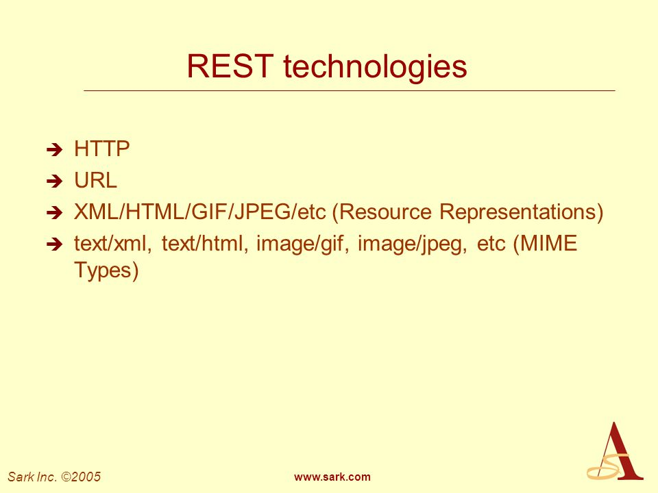 REST technologies HTTP URL