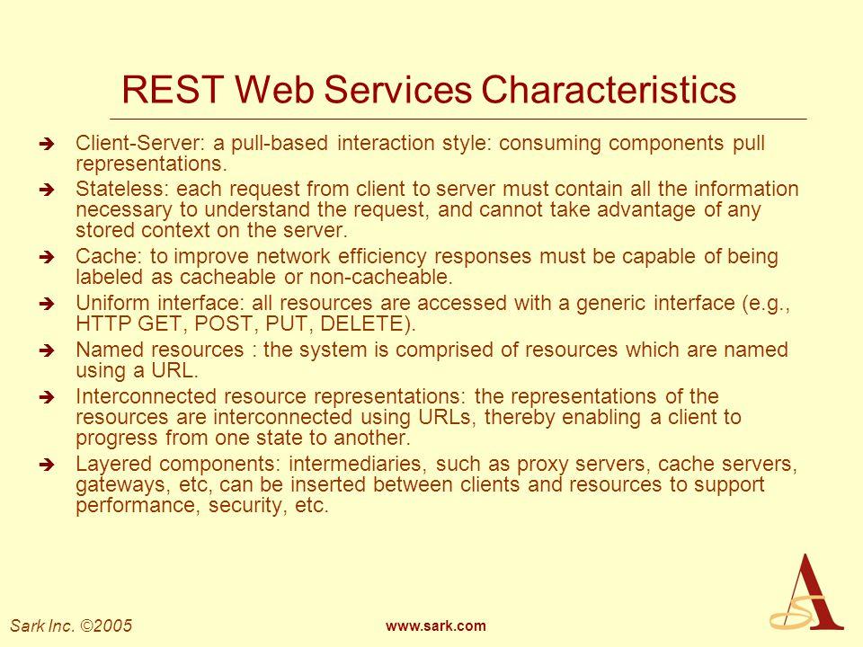 REST Web Services Characteristics