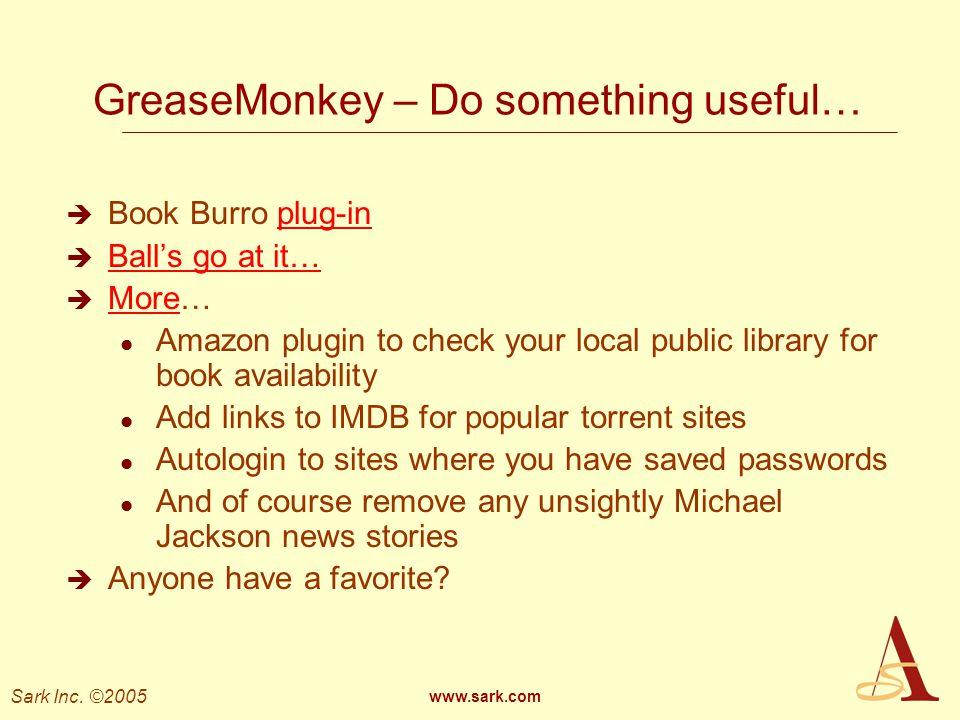 GreaseMonkey – Do something useful…