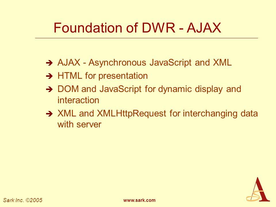 Foundation of DWR - AJAX