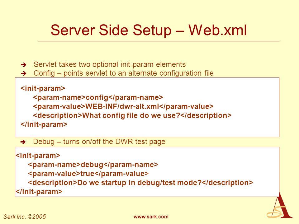 Server Side Setup – Web.xml