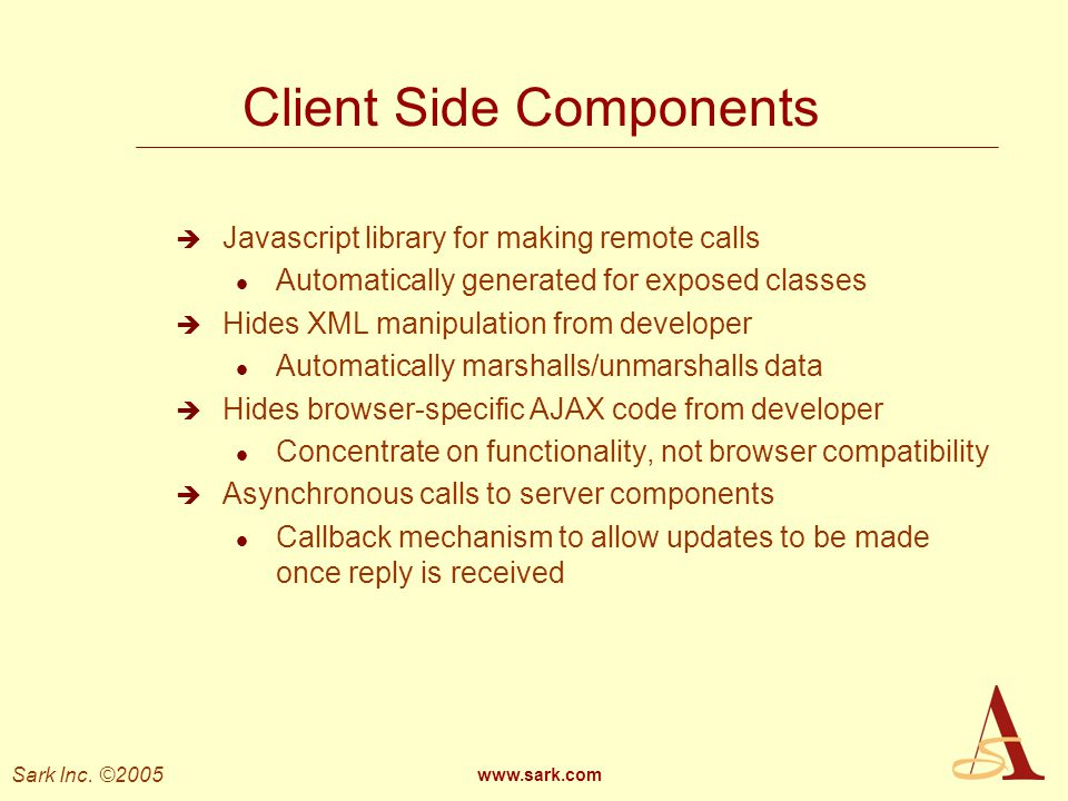 Client Side Components