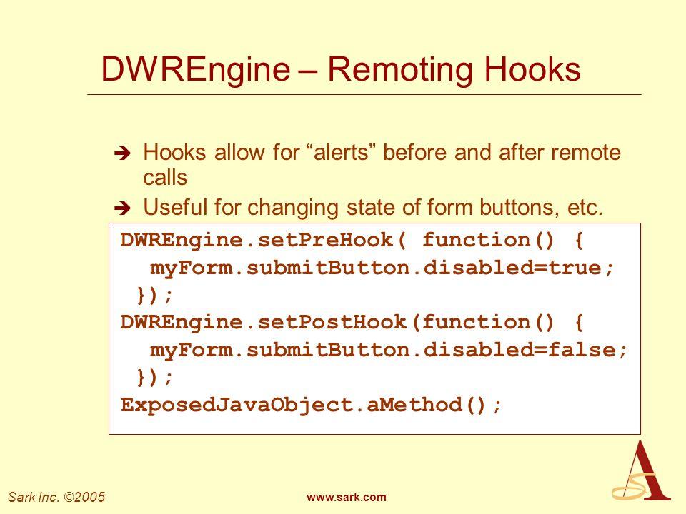 DWREngine – Remoting Hooks