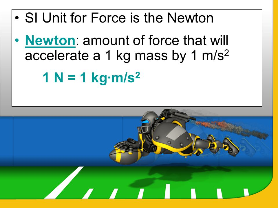 SI Unit for Force is the Newton