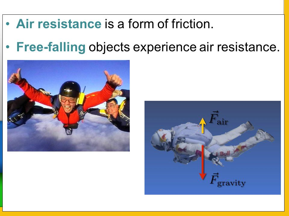 Air resistance is a form of friction.