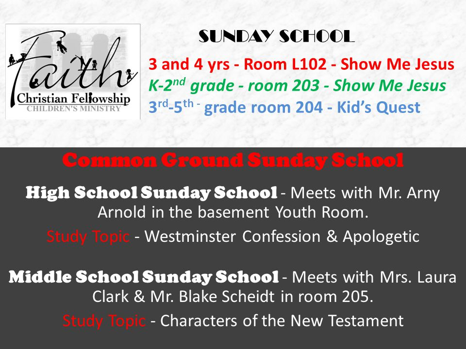 Common Ground Sunday School