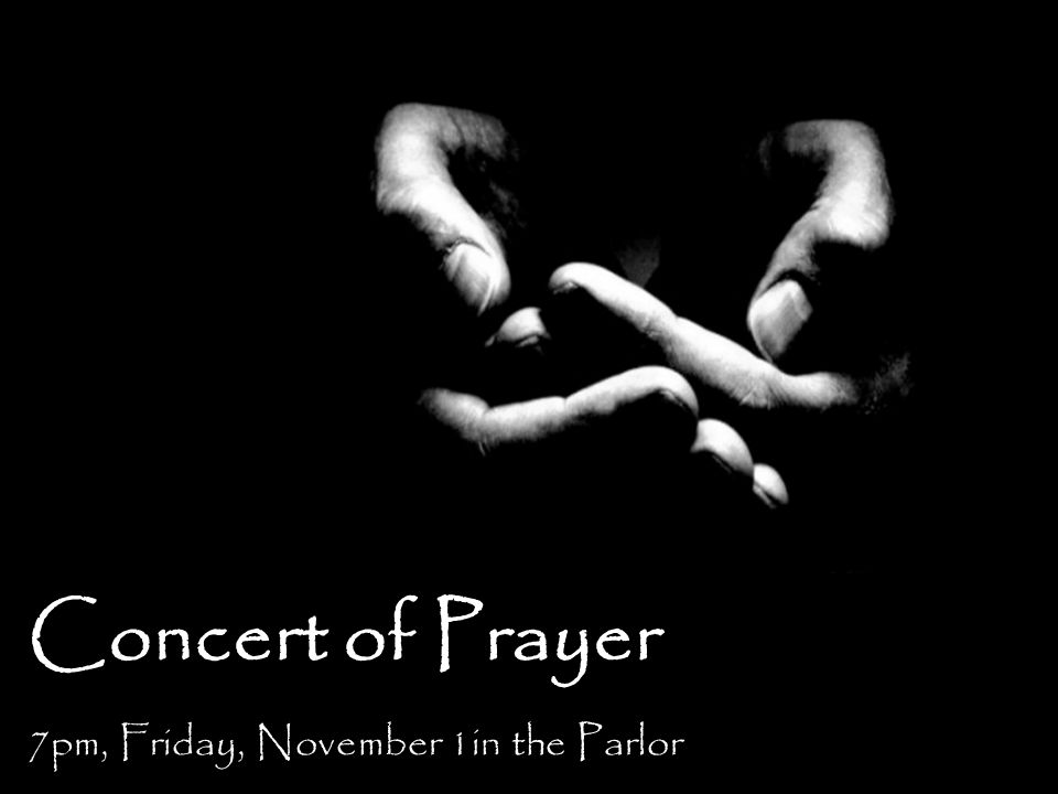 7pm, Friday, November 1in the Parlor