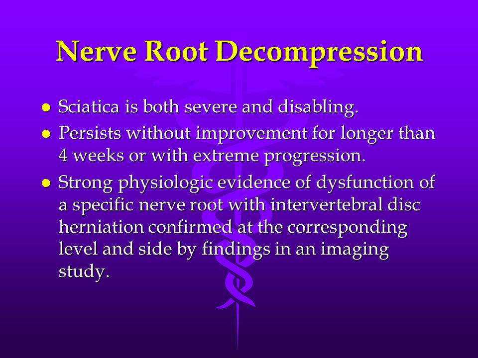 Nerve Root Decompression