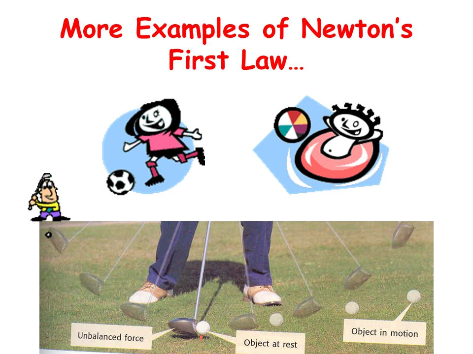 More Examples of Newton's First Law…