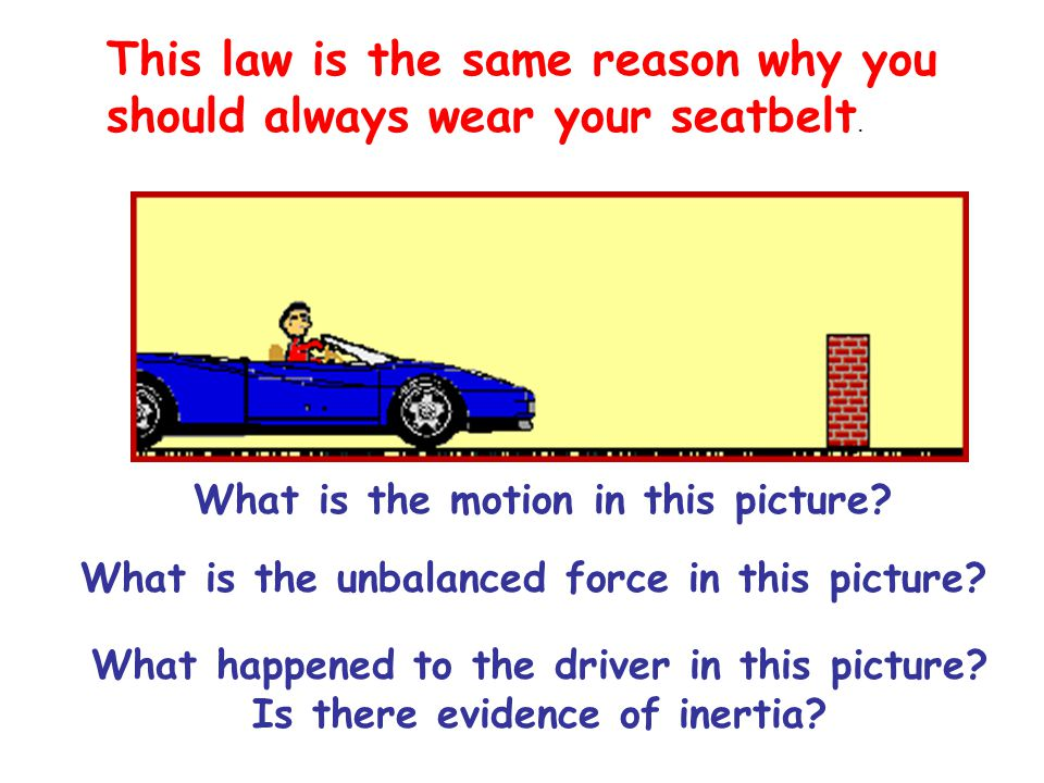 This law is the same reason why you should always wear your seatbelt.
