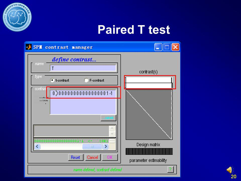 Paired T test 20