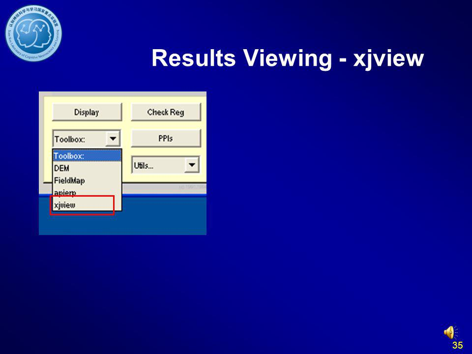 Results Viewing - xjview