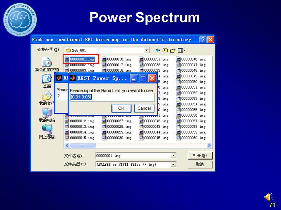 Power Spectrum 71