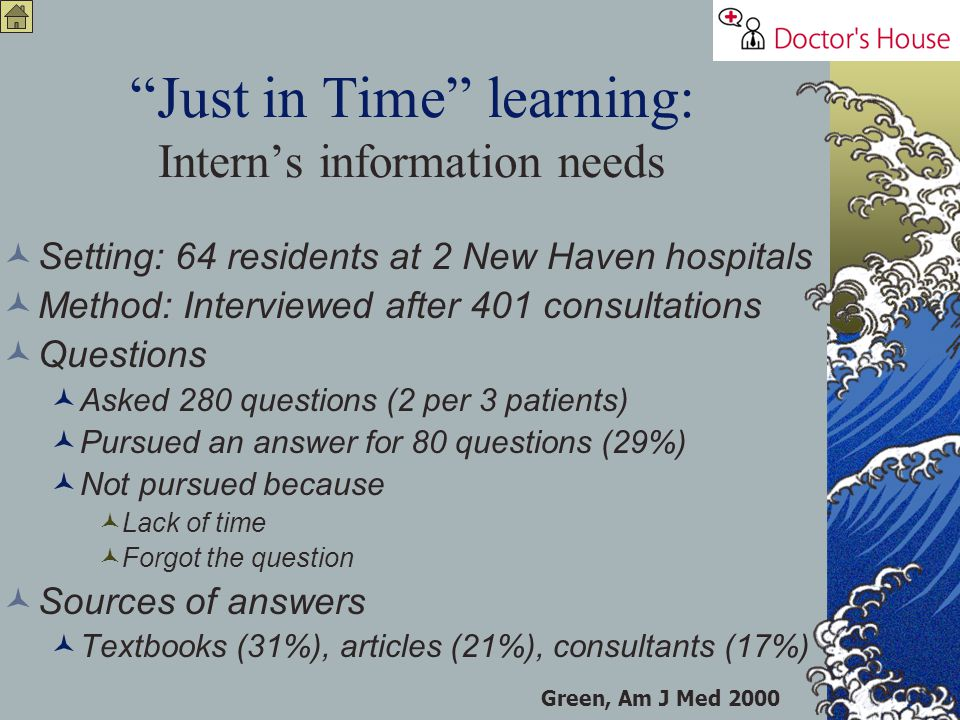 Just in Time learning: Intern's information needs