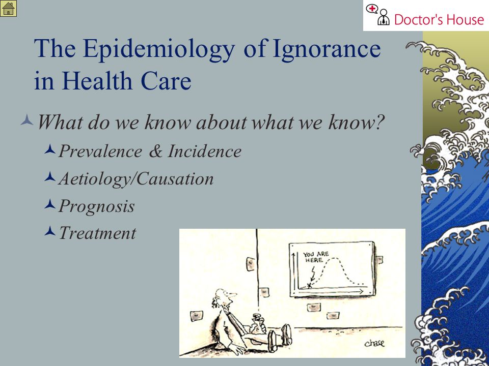 The Epidemiology of Ignorance in Health Care