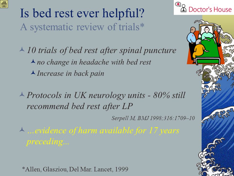 Is bed rest ever helpful A systematic review of trials*