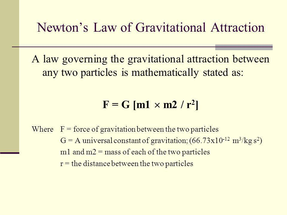 Newton's Law of Gravitational Attraction