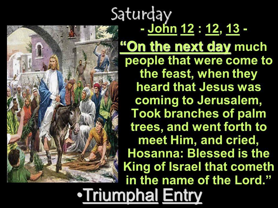 Saturday Triumphal Entry