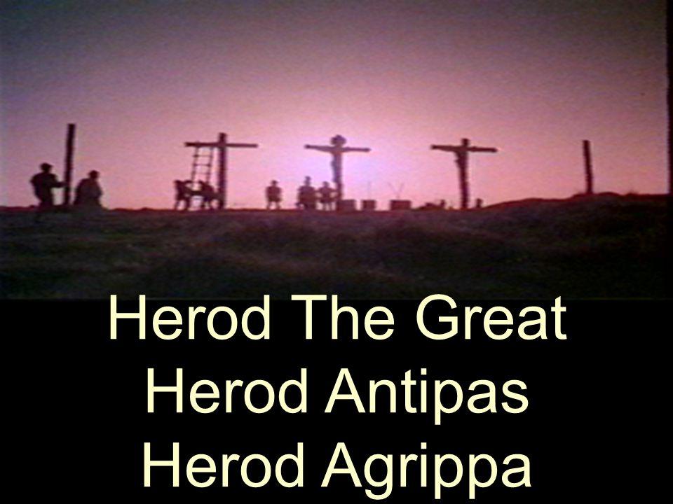Herod The Great Herod Antipas Herod Agrippa