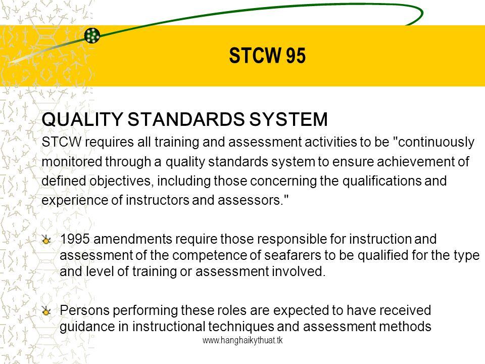 STCW 95 QUALITY STANDARDS SYSTEM