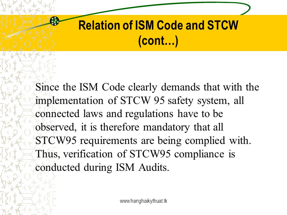 Relation of ISM Code and STCW (cont…)