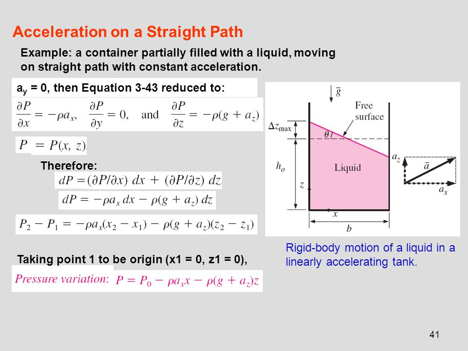 Acceleration on a Straight Path