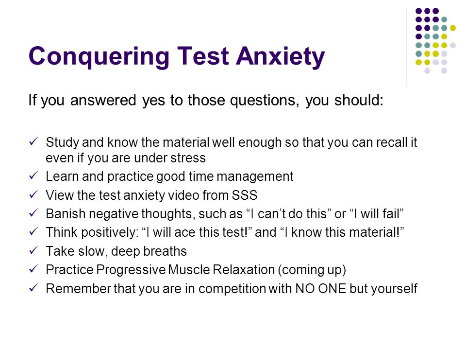 Conquering Test Anxiety
