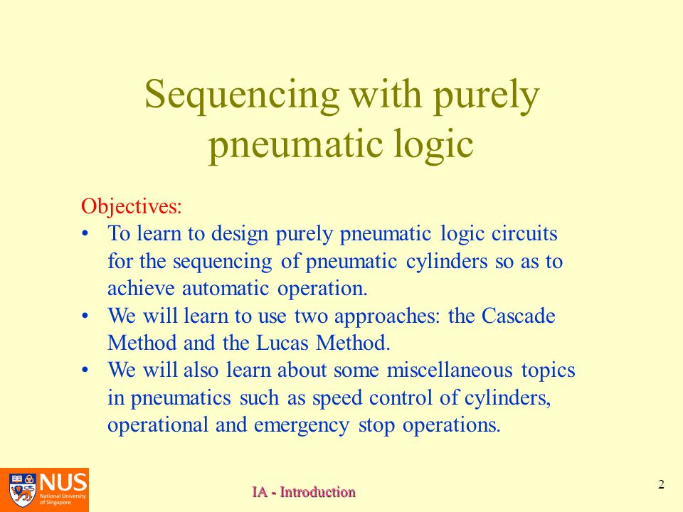 Sequencing with purely pneumatic logic