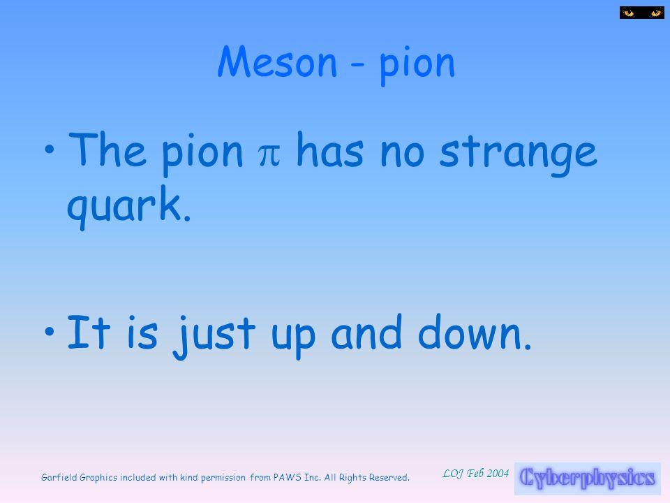 The pion p has no strange quark.