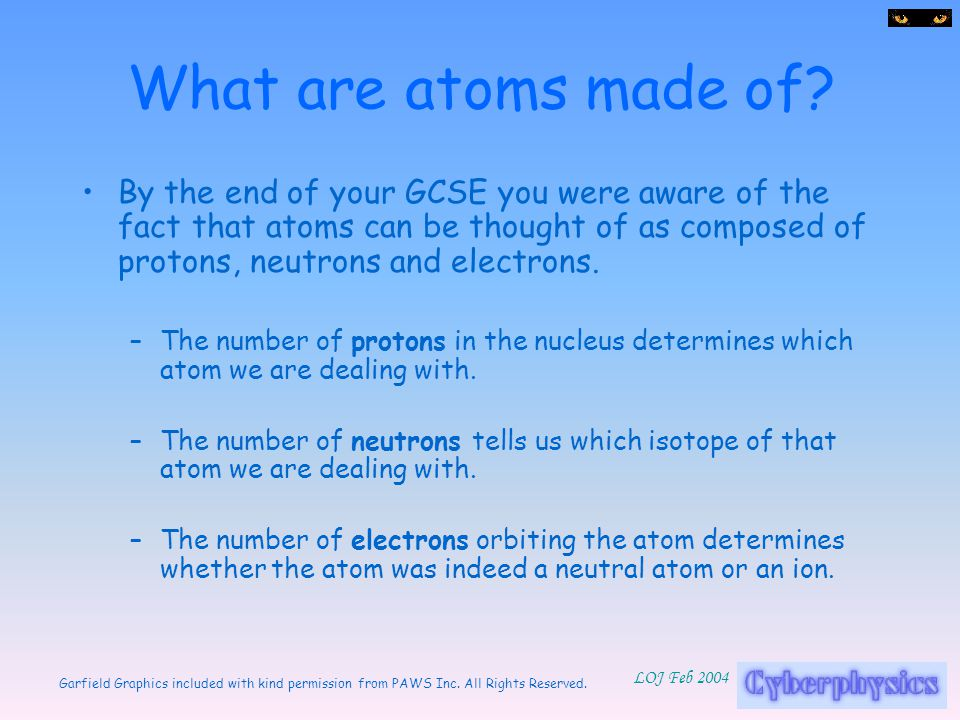What are atoms made of