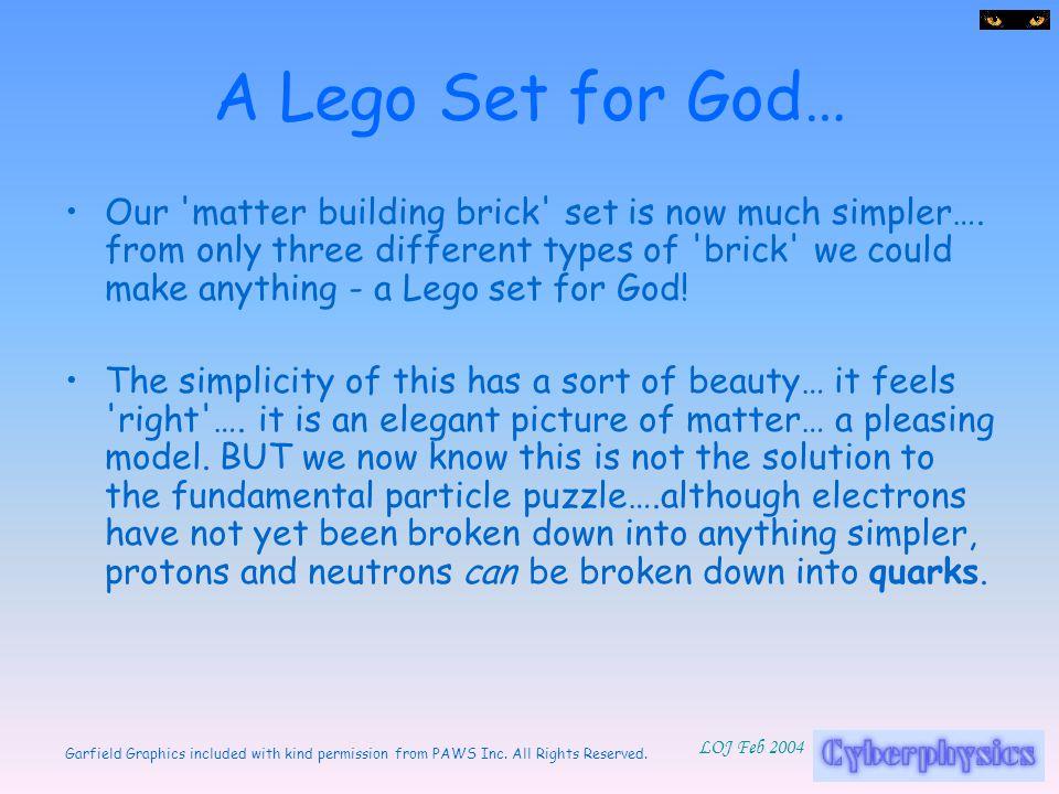 A Lego Set for God…