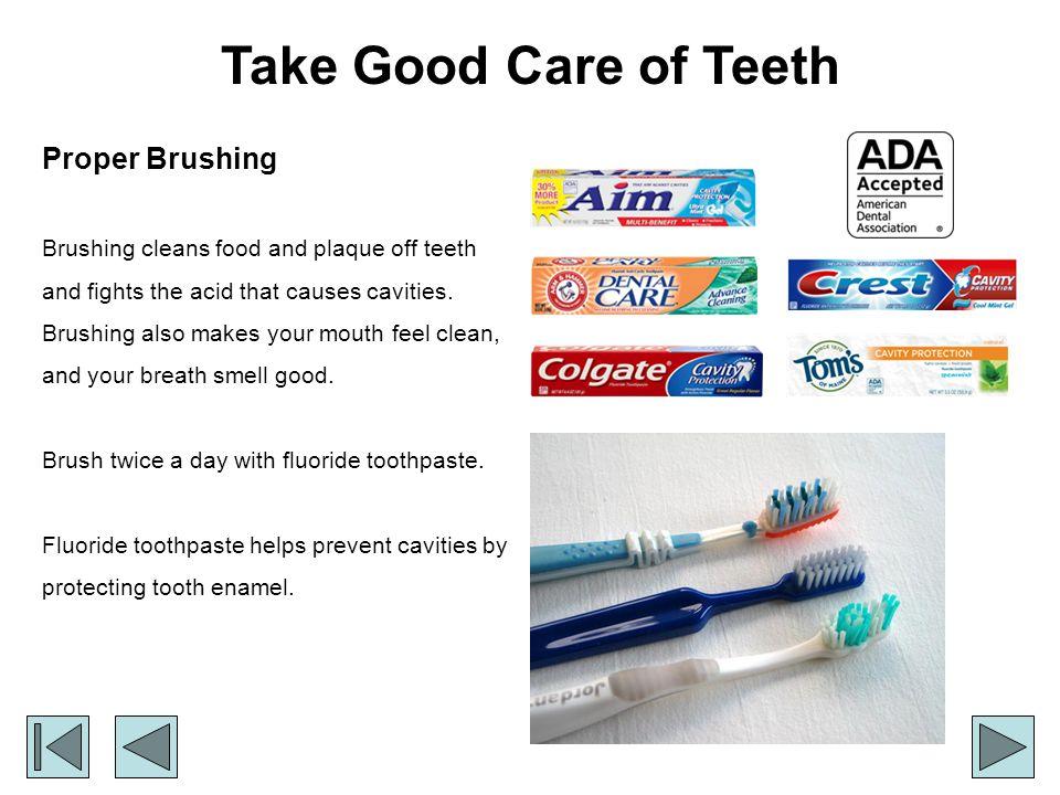 Take Good Care of Teeth Proper Brushing