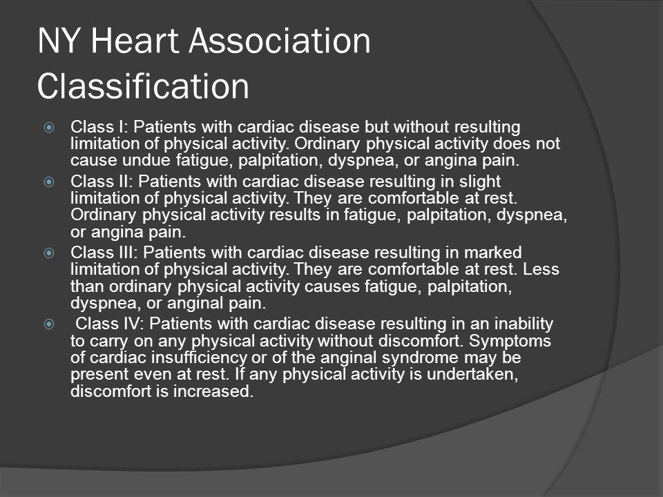 NY Heart Association Classification