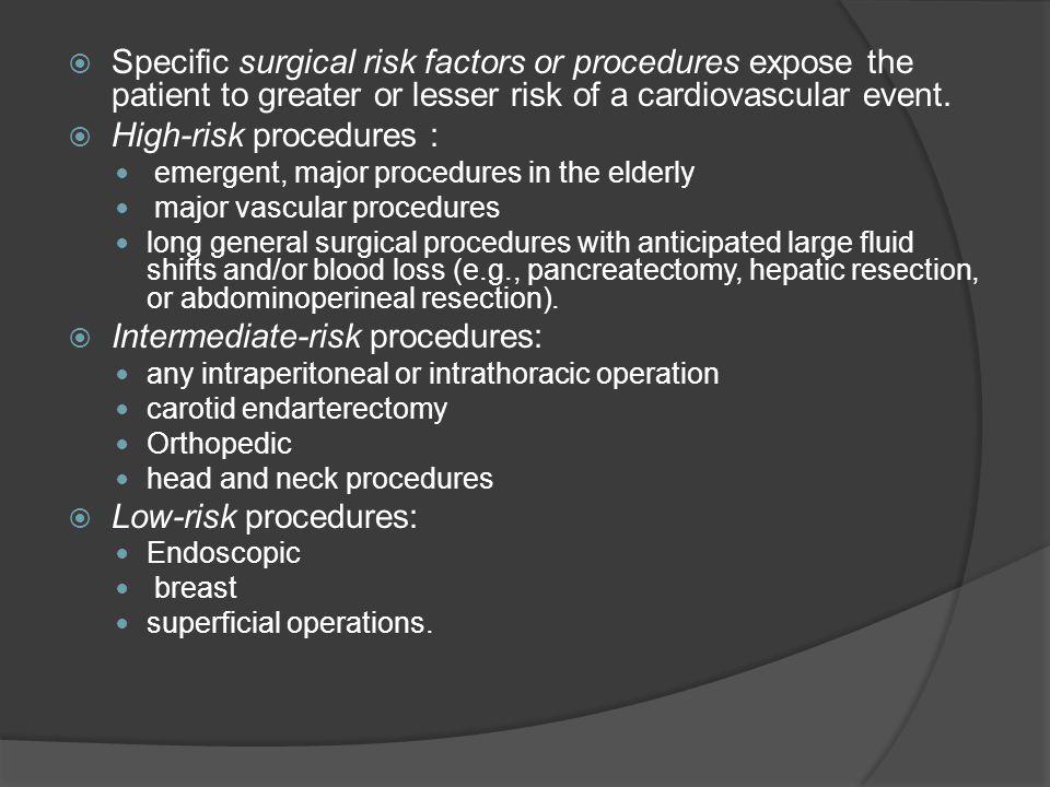 High-risk procedures :