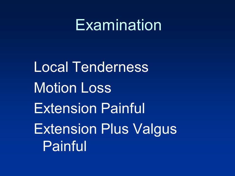Examination Local Tenderness Motion Loss Extension Painful