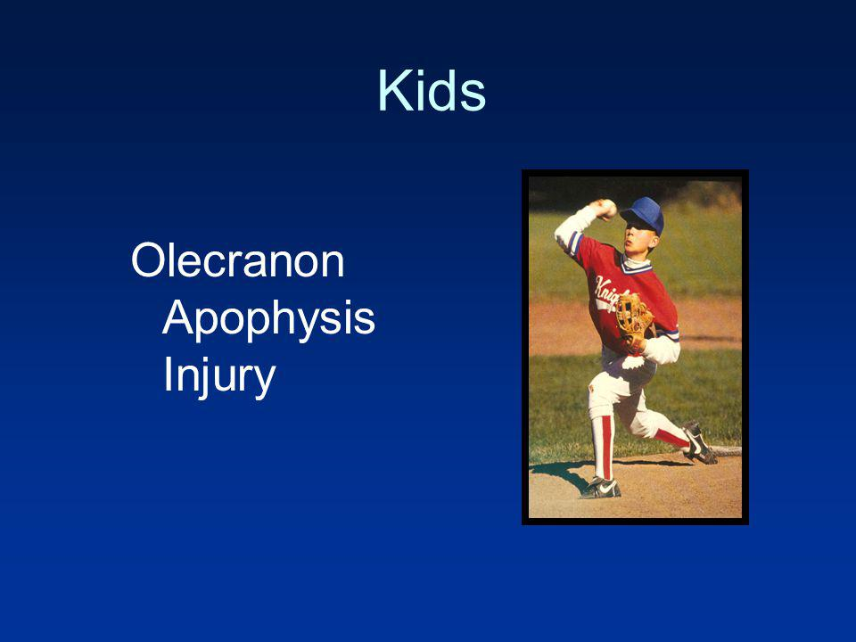 Kids Olecranon Apophysis Injury