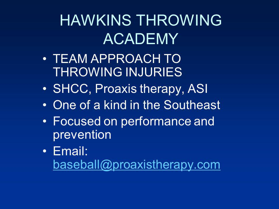 HAWKINS THROWING ACADEMY