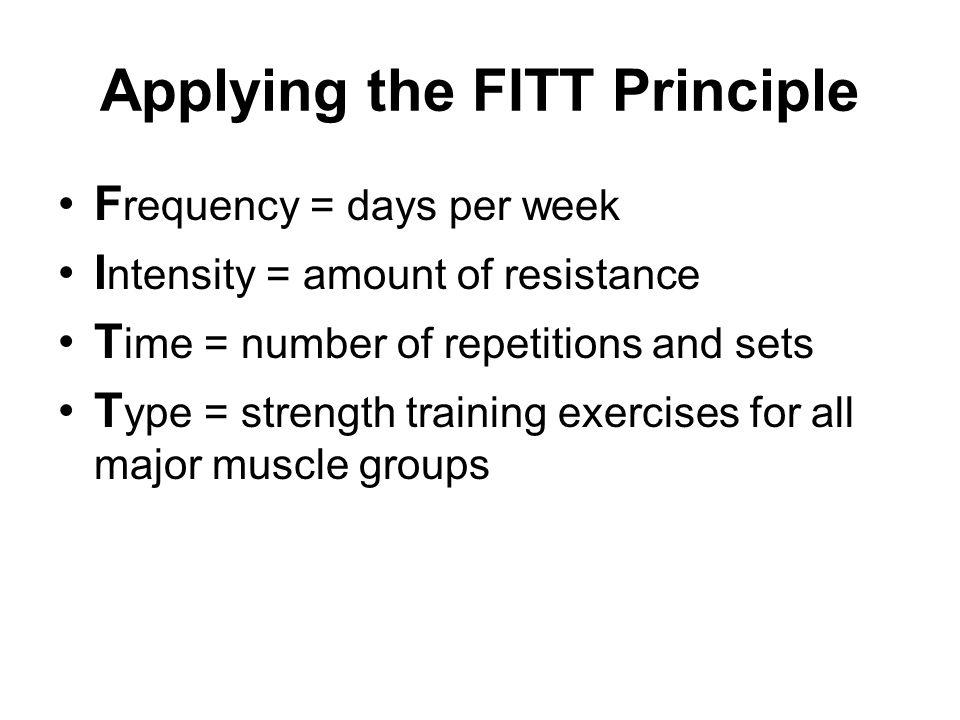 Applying the FITT Principle