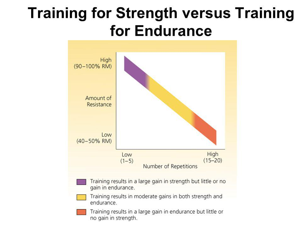 Training for Strength versus Training for Endurance