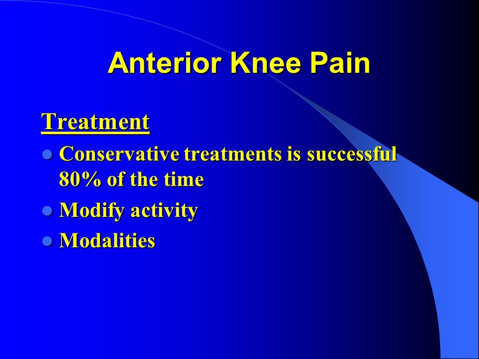Anterior Knee Pain Treatment