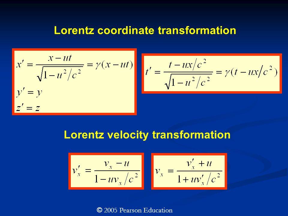 Lorentz velocity transformation