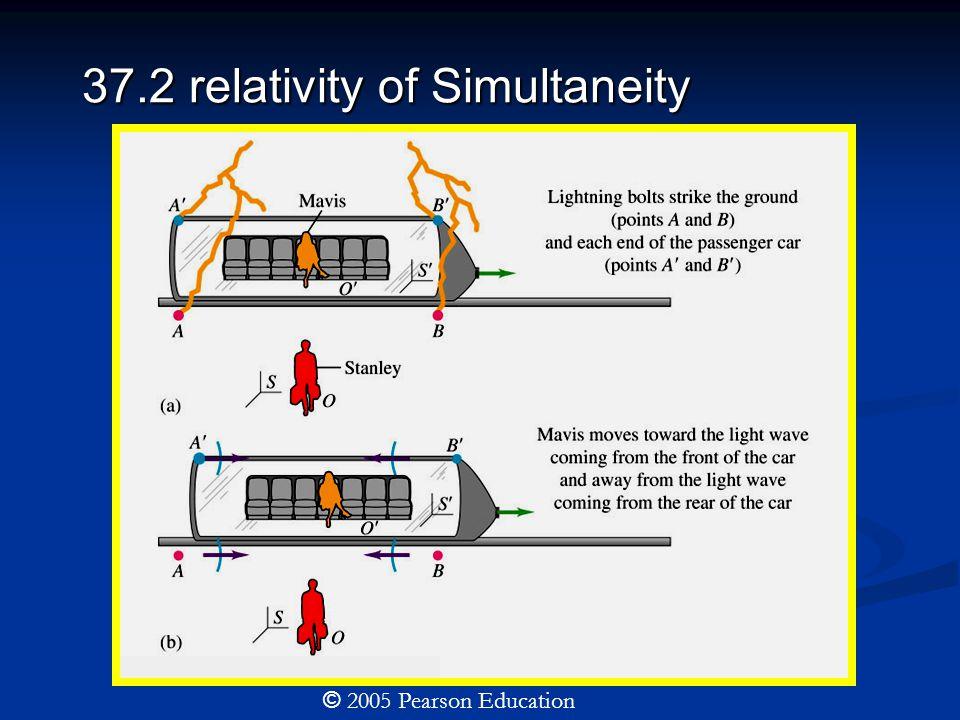 37.2 relativity of Simultaneity