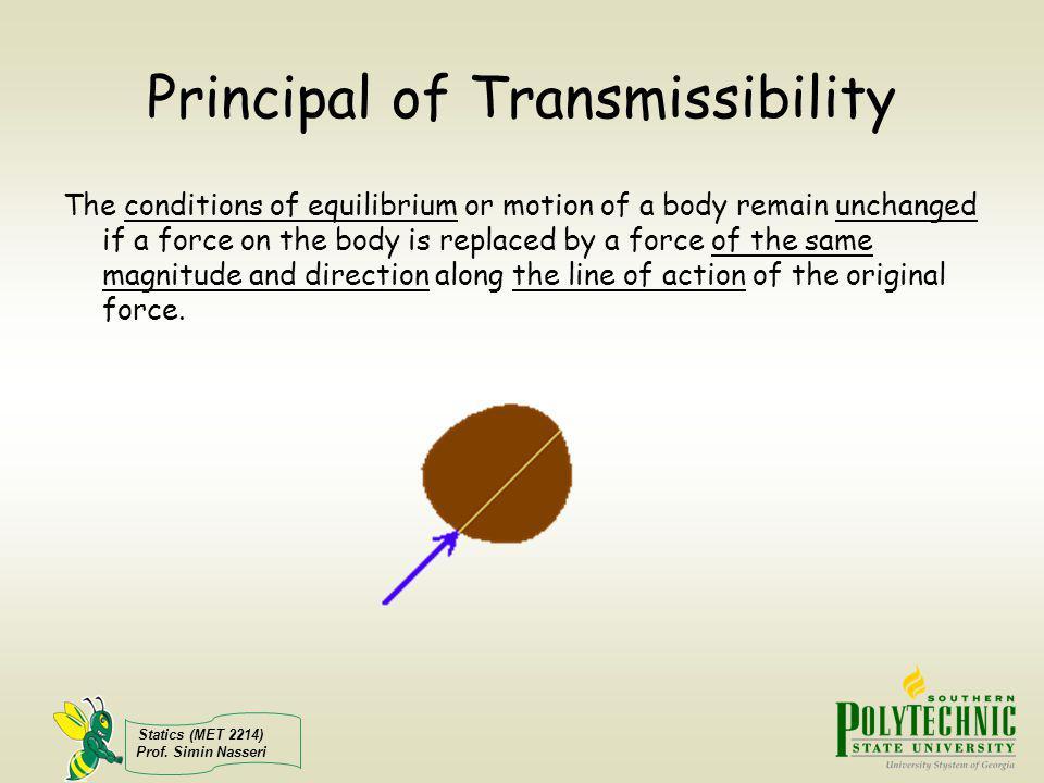 Principal of Transmissibility