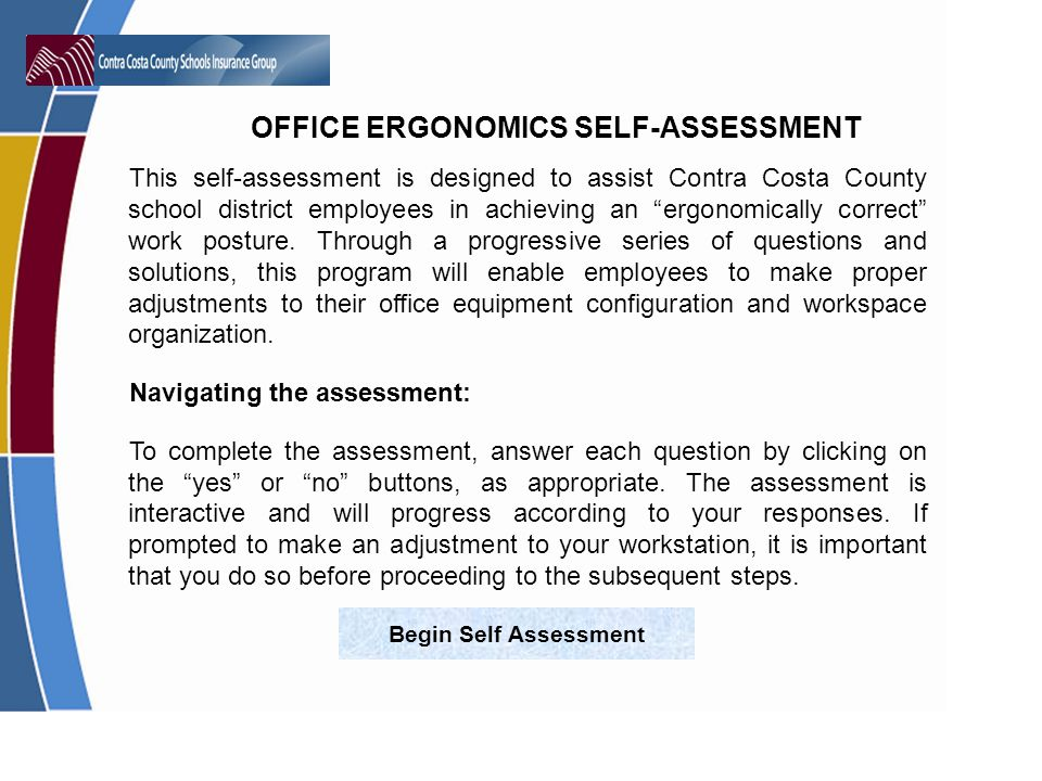 Navigating the assessment: