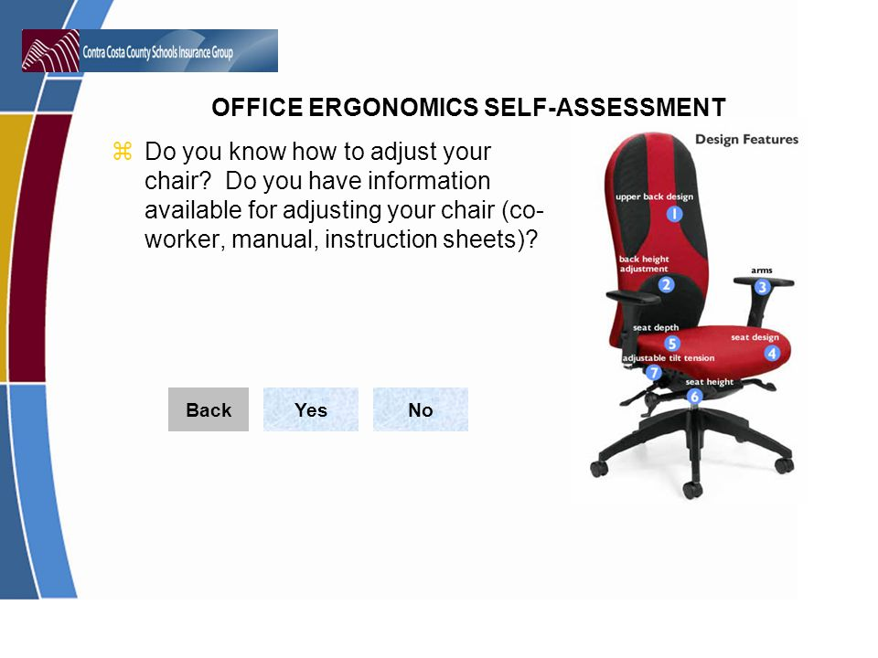 Do you know how to adjust your chair